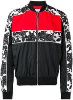 MSGM contrast stripe bomber jacket