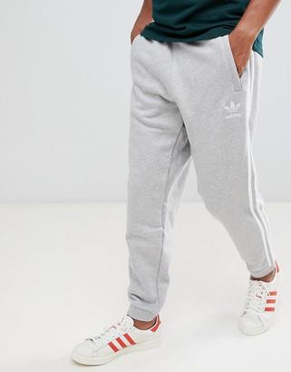 adidas 3-Stripe Joggers In Grey DH5802