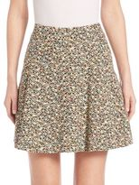 Akris Punto Static Tweed Flounce Skirt