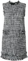 MSGM embroidered shift dress - women - Silk/Cotton/Acrylic/Virgin Wool - 40