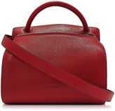 Jil Sander Blunt Open Red Leather Small Bag