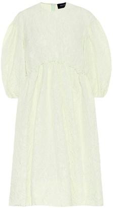 Simone Rocha Floral-jacquard midi dress