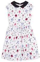 Kate Spade Girls' Monster Print Pebble Crepe Dress -Sizes 2-6