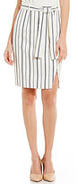 Antonio Melani Brim Striped Double Face Skirt