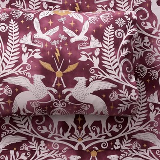 Pottery Barn Teen HARRY POTTER Magical Damask Sheet Set - Mystic Mint