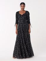 Diane von Furstenberg Bellona Metallic Dot Gown