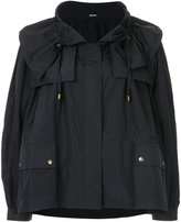 Jil Sander Navy zipped flared coat