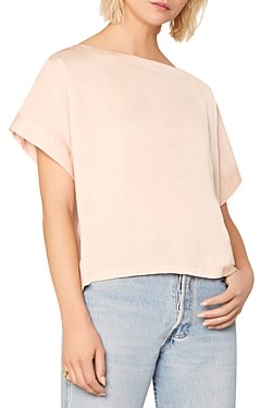 Cupcakes And Cashmere Koryn Satin Boat Neck Top