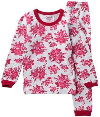 Coccoli Floral Heathered Pajama Set (Toddler, Little Girls, & Big Girls)