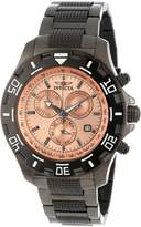 Invicta Men's 80157 Specialty Chronograph Rose Gold Tone Dial Gunmetal Stainless Steel Watch