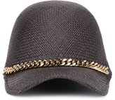 Stella McCartney Falabella cap - women - Cotton/Straw - 57