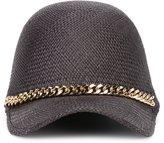Stella McCartney Falabella cap - women - Straw/Cotton - 57