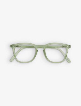 Izipizi Reading #E trapezium-frame acetate eye glasses +1.0