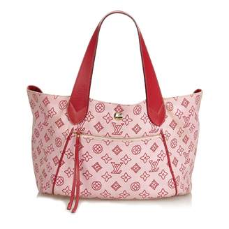 Louis Vuitton Burgundy Cloth Handbag