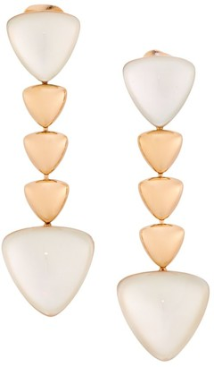 Mother of Pearl Freccia 18K Rose Gold & Mother-Of-Pearl Linear Earrings