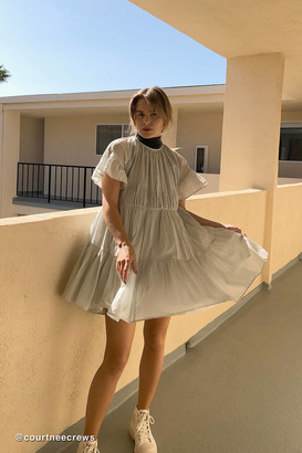 Urban Outfitters Moura Tiered Ruffle Frock Dress