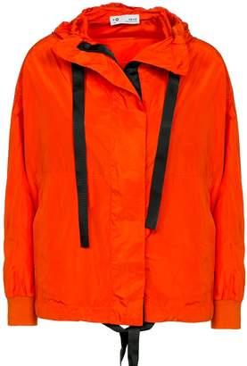 Naftul Recycled Nylon Orange Hooded Windbreaker Jacket.