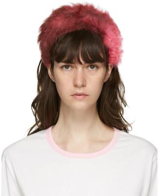 Ashley Williams Pink Shearling Alice Headband