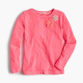 J.Crew Girls' embellished double flower T-shirt