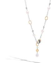 John Hardy Naga Station Necklace with Pearl, White Moonstone