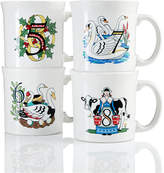 Fiesta Twelve Days of Christmas Set of 4 Mugs, Second series in a series of Three