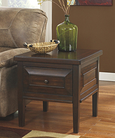 Signature Design by Ashley Rustic Brown Hindell Park Square End Table