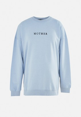 Missguided Blue Mother Graphic Maternity Sweatshirt