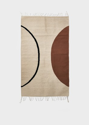 Kesslyr Dean 3 x 5 ft. Double Moon Rug in Natural