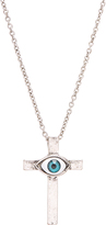 Carole Stainless Steel Eye Cross Pendant Necklace