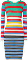 Diane von Furstenberg Striped Ribbed Cotton-blend Jersey Dress