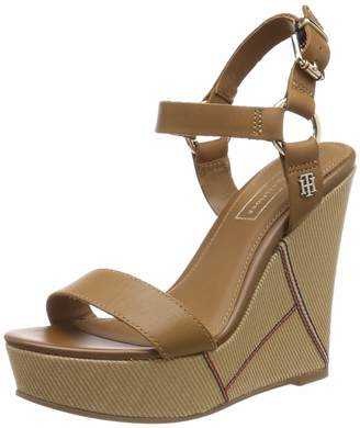 Tommy Hilfiger Women's Elevated Leather Wedge Platform Sandals