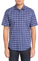 Zachary Prell Men's Medina Slim Fit Plaid Sport Shirt