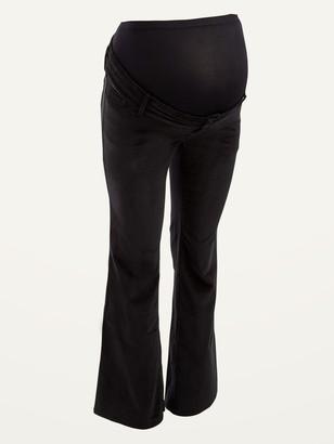 Old Navy Maternity Premium Full Panel Velvet Flare Jeans