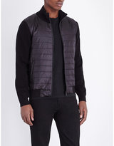 The Kooples Quilted-front Shell And Knitted Cardigan