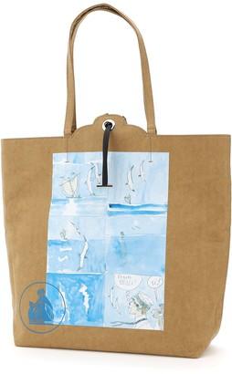 Lanvin Grocery Comic-Print Shopping Bag