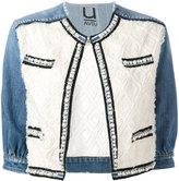 Aviu pearl trim denim jacket - women - Cotton/Polyamide/Polyester/Spandex/Elastane - S
