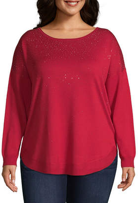 Liz Claiborne Heat Sealed Pullover- Plus