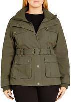 City Chic Rib Trim Utility Jacket