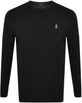 Psycho Bunny Classic Long Sleeve T Shirt Black