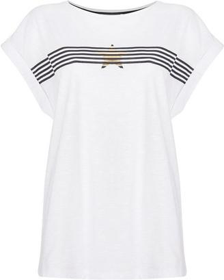 Mint Velvet Stripe Star T-Shirt