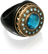 ASOS Acrylic Ring With Filigree Metal Detail And Stone