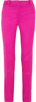 Thierry Mugler Stretch-wool Twill Skinny Pants - Fuchsia