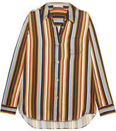 Acne Studios Buse Striped Satin Shirt - Yellow