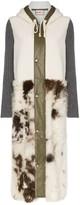 Shearling Two-Tone Coat