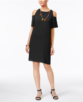 Thalia Sodi Cold-Shoulder Necklace Dress, Created for Macy's