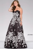 Jovani Strapless Embroidered Prom Ballgown 45523