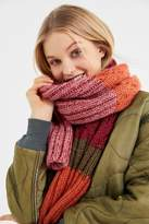 Urban Outfitters Colorblock Cable Knit Scarf