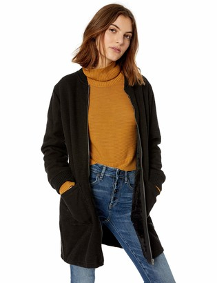 Cupcakes And Cashmere Women's Bill Knit Bonded Shearling Jacket w/Rib