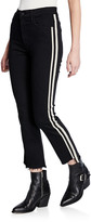 Mother Insider Crop Step Fray Striped Jeans