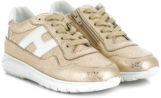Hogan stitched panel sneakers